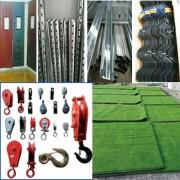 棉帘、龙骨、卡槽、卡簧、小滑轮、草坪