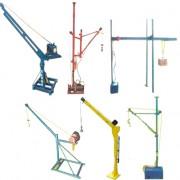 室外吊运机、折臂式直滑式两相电电动车载吊机、室肉单杆吊运机
