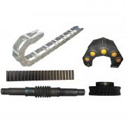 尼龙拖链-铝合金拖链-齿条-涡杆-涡轮