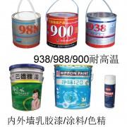 耐高温原子灰、内外墙乳胶漆、涂料、色精